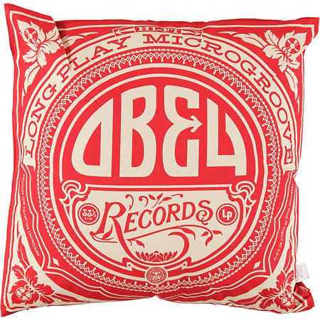 The Obey Gold Label throw pillow adds some rock and roll to your living room, bedroom, or anywhere else. WANTWANTWANT
