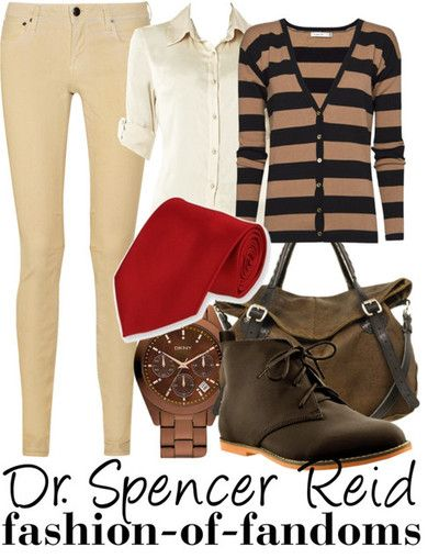 Dr. Spencer Reid fandom fashions --- hhahah love that this outfit was created :)
