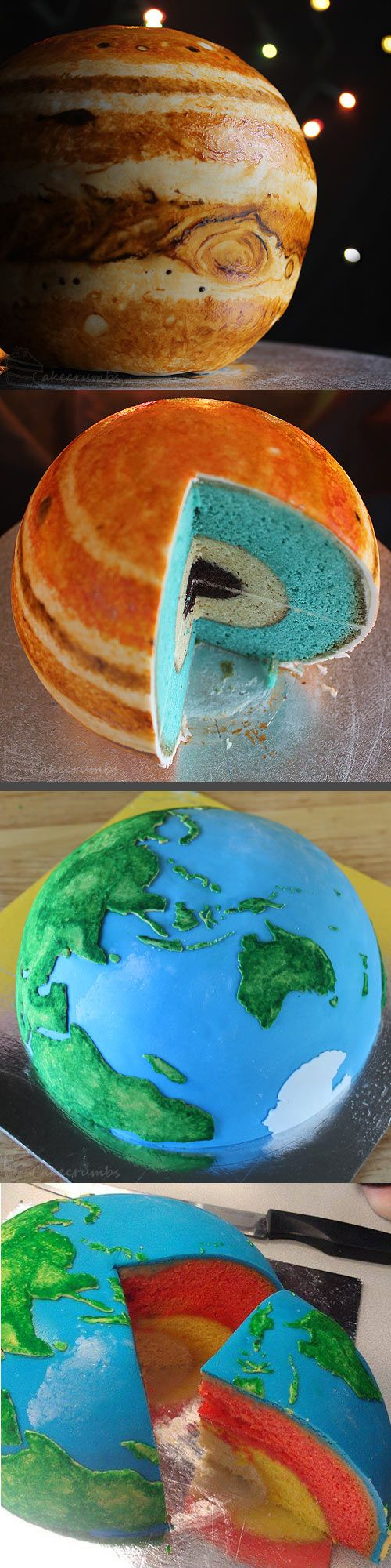 Planet cakes…I don't know whether to put this in science or food...