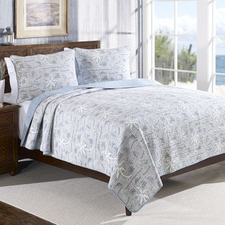 Tommy Bahama Island Song Reversible Cotton 3-piece Quilt Set | Overstock™ Shopping - Great Deals on Tommy Bahama Quilts