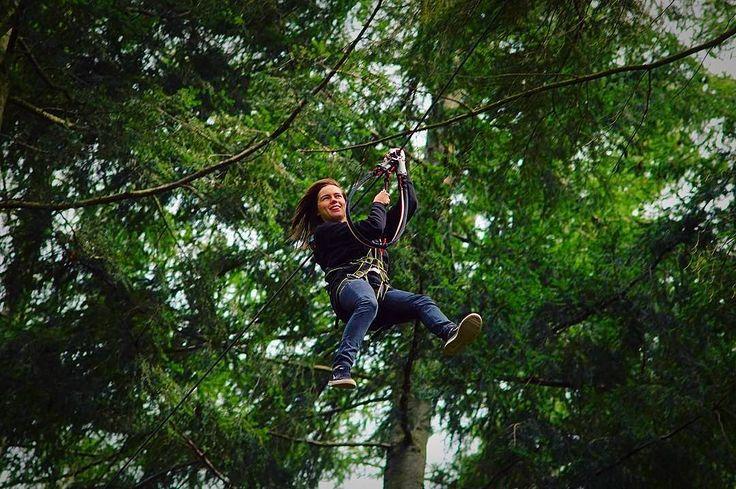 I bet she feels like Tarzan! Photo by @itsrhihealey #ExperienceAdventure #ExperienceAdventure