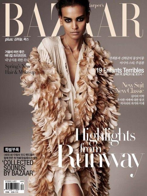 Harpers Bazaar Korea February Liya Kebede Vogue