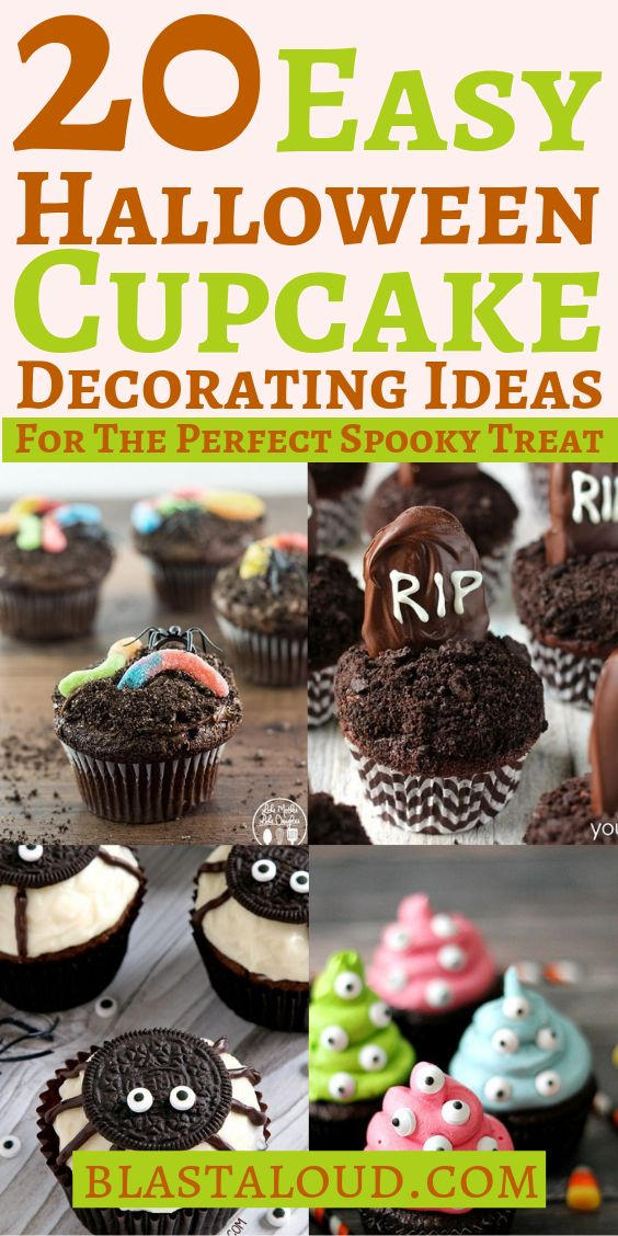20 Easy Halloween Cupcake Decorating Ideas For Kids And Adults Alike