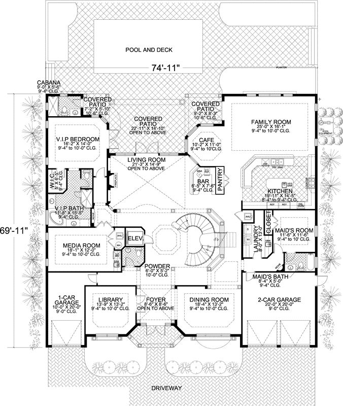 7 bedroom house plans. Florida Style House Plans  7883 Square Foot Home 2 Story 7 Bedroom and 48 best images on Pinterest Architecture European