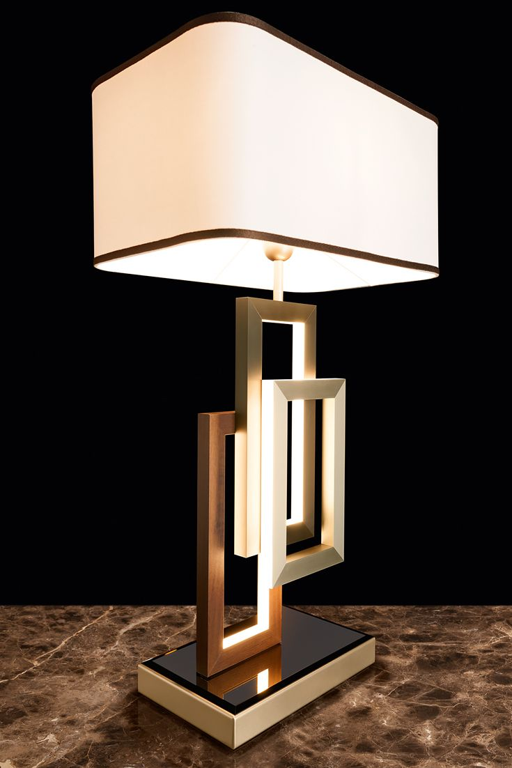 Modern Italian Geometric Designer Table Lamp With Shade Juliettes Interiors Table Lamp Design Table Lamp Unique Lamps