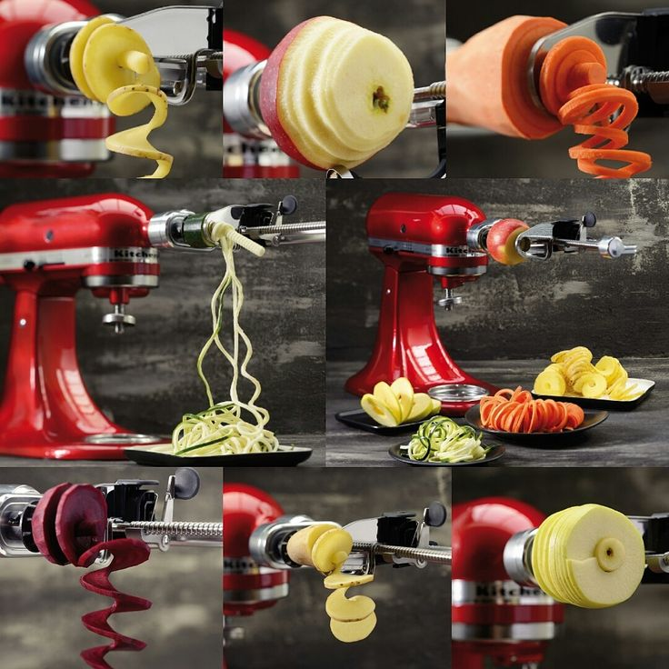 We are thrilled to announce a new addition to the KitchenAid Family! The KitchenAid Spiralizer Attachment is here and is ready to become your new best friend in the kitchen! The brand new attachment allows for thirteen combinations of spiralizing, slicing, peeling and coring in moments!  Vegetable pastas and beautiful garnishes are now possible using your Stand Mixer! Much love KitchenAid Africa xx