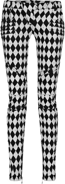 Harlequin Print Moto Cross Style Skinny Jeans - Lyst  Only about $1600