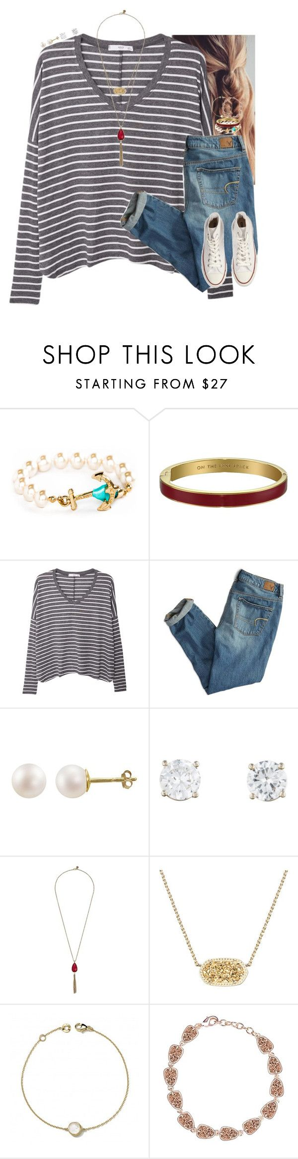 """""""Does It Get Weird At These Things? Define Weird."""" by cfc-prep-sc ❤ liked on Polyvore featuring Kate Spade, MANGO, American Eagle Outfitters, PearLustre by Imperial, The Sak, Kendra Scott, Ippolita and Converse"""