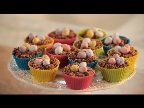 How to make chocolate Easter egg nest cakes - a British classic! Perfect simple and tasty recipe to make with children over the school holidays.