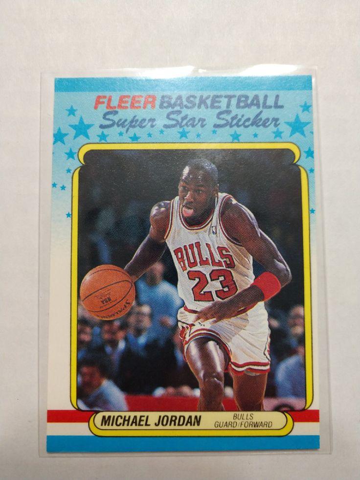 1989 michael jordan fleer super star sticker 7 card is