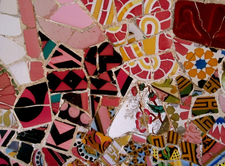 art: more found, less lost (Gaudi Mosaic, Parc Guell, Barcelona, Spain) www.gold-boat.com