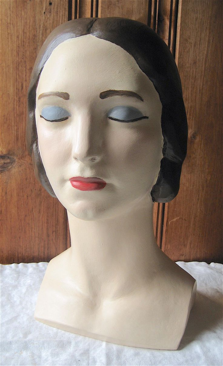 Closed Eyes Mannequin Head - Female Classic Style Bust - Millinery Hat Stand - Artist Painted Custom Milliner's Mannequin - Shop Photo Prop by edamamacita on Etsy https://www.etsy.com/listing/260806577/closed-eyes-mannequin-head-female