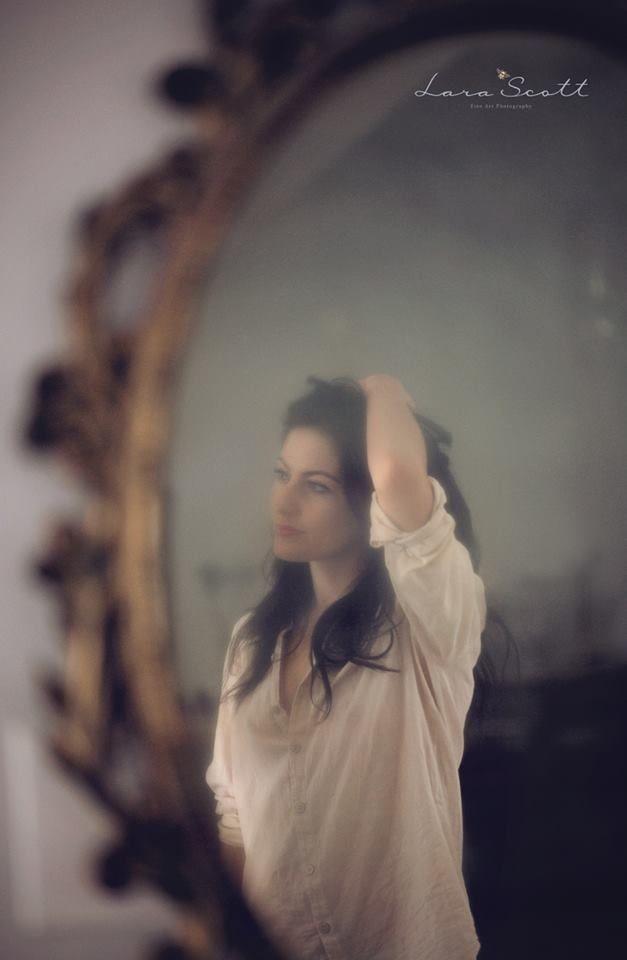 My work. Smokey Mirror. Woman Portrait.  www.larascott.co.za