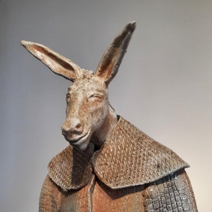 """Donkey in Robe"" - Ceramic Sculpture by Efe Turkel"