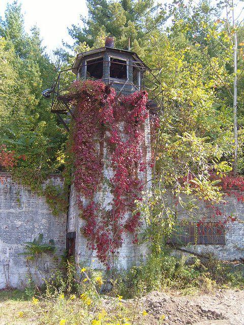 Roseville Prison- guard tower. Roseville, Ohio, near Zanesville.
