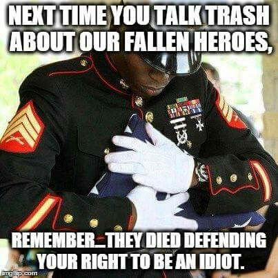 I don't care what religion you are or are not. I don't care about the color of your skin. I don't care if you're male or female. Once you put on US military uniform and fight for my freedom and the freedom of the USA, you are AMERICAN!!!! PERIOD!! ALL respect to our military!!