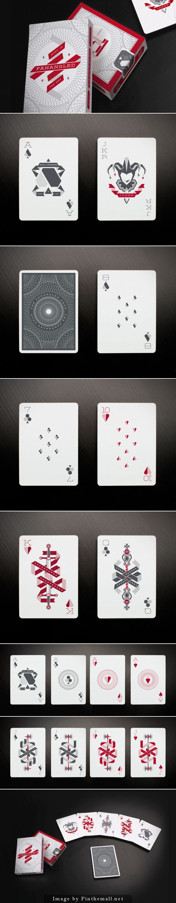 In each of these playing cards I appreciated the small details. Each one of them tied in well with the other cards in the series and challenged our perceptions of what a card should look like.