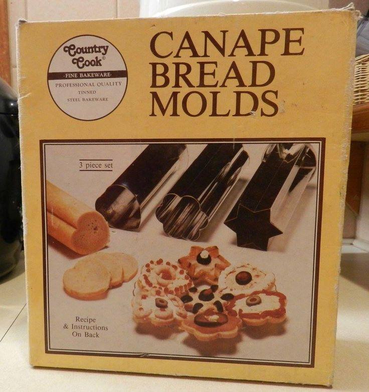 Retro NIB Country Cook Canape Bread Moulds