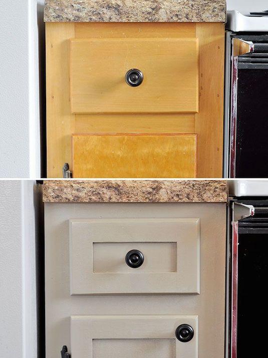 # 11.  Atualize seus armários com peças adicionais de moldagem e trim.  - 27 Fácil remodelação projetos que irão transformar completamente a sua casa