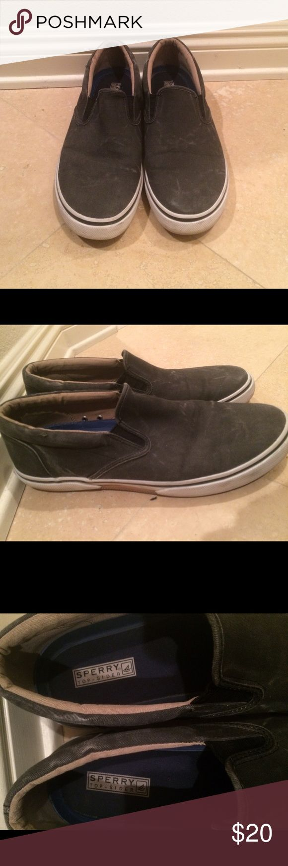 Men's Sperry's shoes! Men's sperrys shoes barely worn! Distressed look Sperry Shoes Sneakers