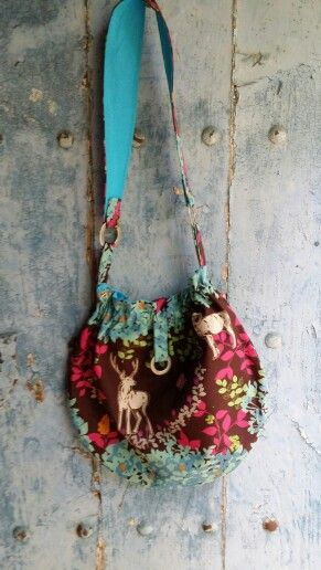 "#handmade #unique #bags ""Where the wild things are"" one of a kind bandolera by order at thescrapstoriches@gmail.com"