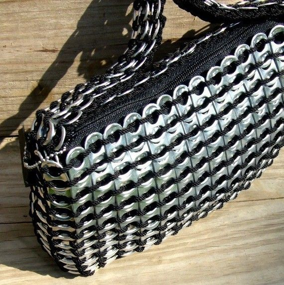 RECYCLED Pop Tab Purse small zipper by sjroemer #upcycled #art