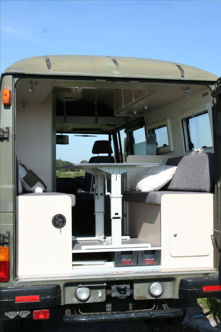 Custom camper by camperlab nl camper dinette mercedes 508 campervanconversion customcamper camperlab custom campers pinterest custom campers and