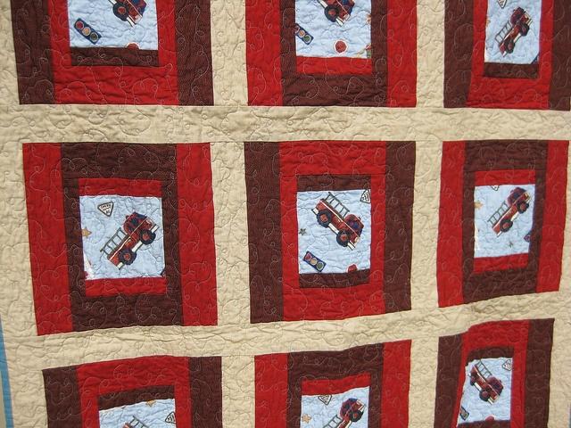 """Fire Truck"" baby quilt, via Flickr."