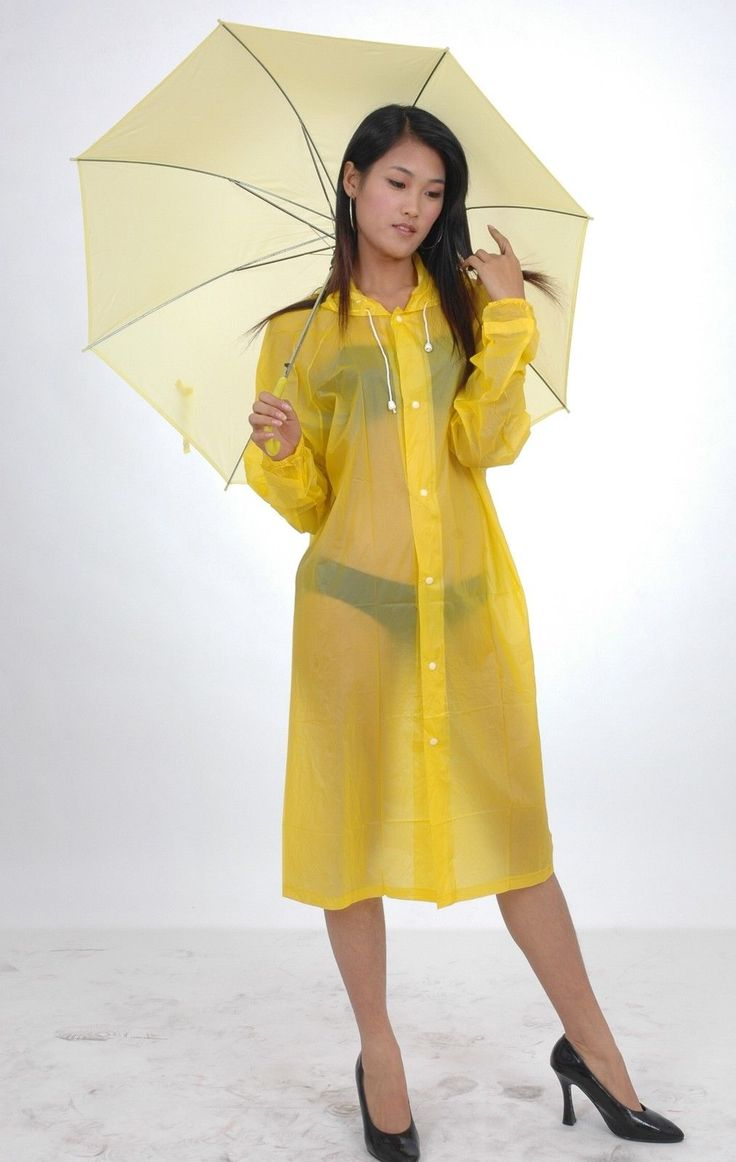 Yellow Transparent Raincoat Pvc Raincoats Transparent