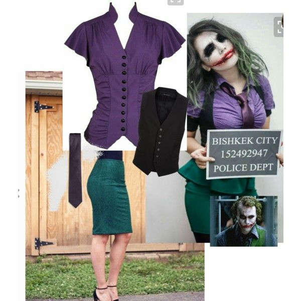 Basic Joker costume idea by robyngoesroar on Polyvore featuring Tom Ford and French Connection