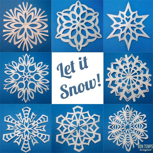 Tips on folding and cutting a proper SIX-point snowflake.  Because real snowflakes have SIX points, people!  SIX!  Not four, not eight, SIX!