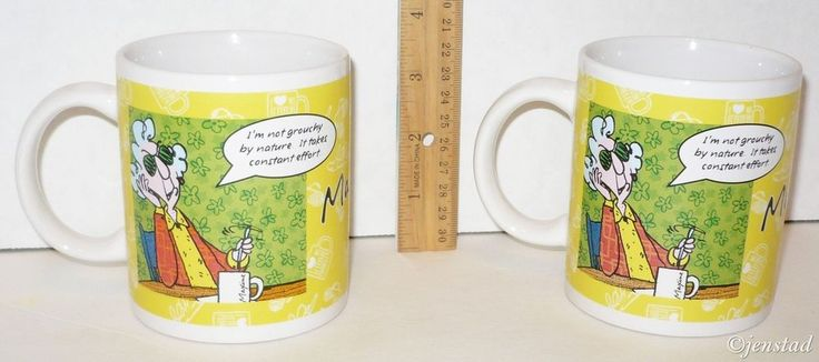 2 LOT HALLMARK MAXINE GROUCHY BY NATURE COFFEE MUG DECORATIVE COLLECTIBLES CUPS