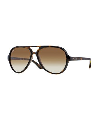 Plastic Aviator Sunglasses, Tortoise by Ray-Ban at Neiman Marcus.