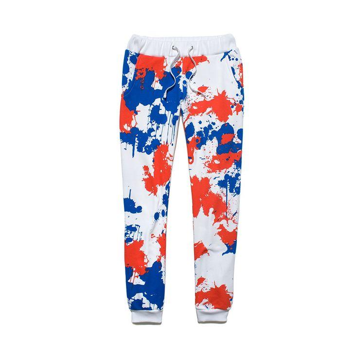 Spodnie Dresowe  SLIMIT CAMO WHITE Damskie bawełniane spodnie dresowe w całości pokryte autorskim wzorem kamuflażu.