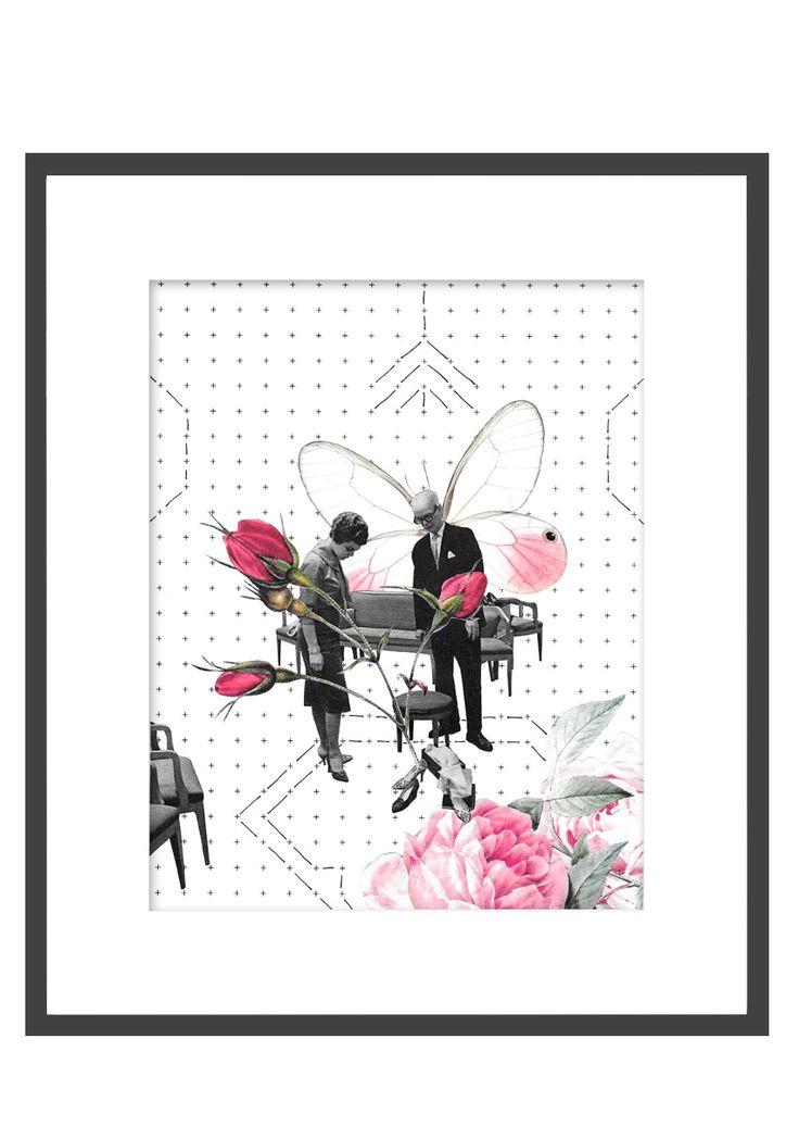 Shoes by Kinga Berkowska; collage papercuting