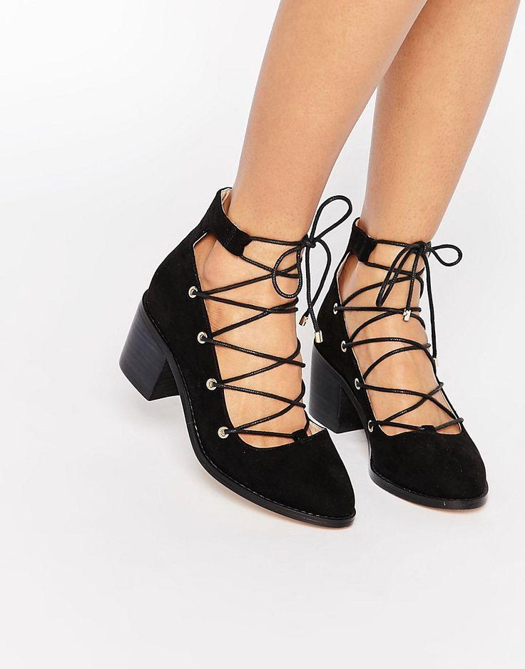 ASOS+OOH+LA+LA+Ghillie+Lace+Up+Shoes
