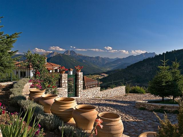 View from Hotel Montana in Kaprenissi