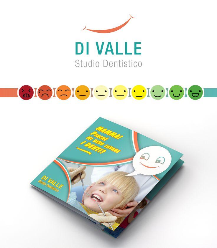 #grafichenuovatipografia #grafiche #nuova #graphic #new #typography #tipografia #brochure #dentist #logo #medic #medico  #presentazione #Concept #design #kid #kids #child #children #tooth #happy #facial #smile #mommy #mom #mamma #depliant #green #orange #arancio #bambina #dentista #pieghevole #pain #illustration #studio #dentistico #simple