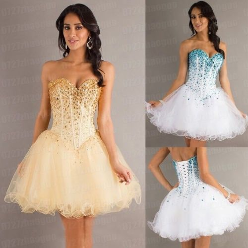 Stock Mini Beaded Short Mini Party Dress Homecoming Prom Party Cocktail Dresses