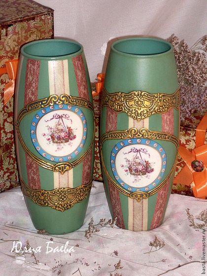 Вазы ручной работы. Ярмарка Мастеров - ручная работа Комплект ваз для близнецов. Handmade.