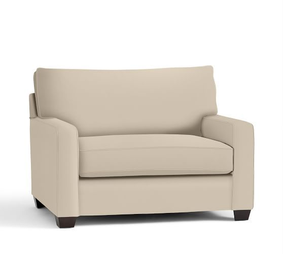 Buchanan Square Arm Upholstered Twin Sleeper Sofa, Polyester Wrapped Cushions, Performance everydayvelvet Buckwheat