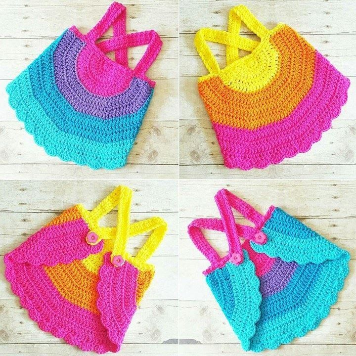 Free Crochet Pattern For Baby Tank Top : 17 Best ideas about Crochet Baby Poncho on Pinterest ...