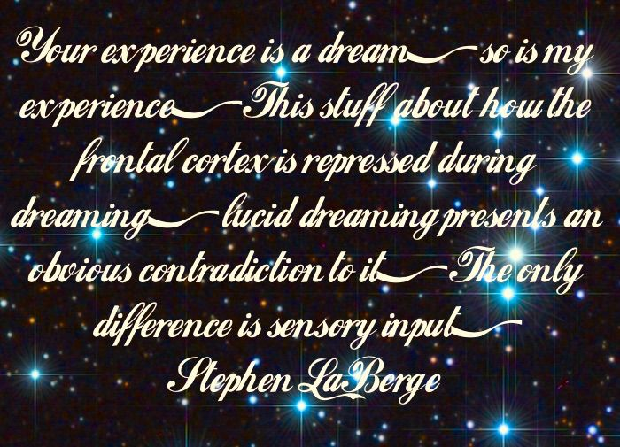 One other difference: You can have *way* more fun in a lucid dream!!