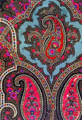 """Motif """"paisley"""" -Etro, maison de mode de prêt-à-porter de luxe, dont le motif…"""