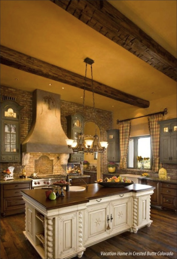 Exposed wood beams - like the paint color with that wood. Very warm