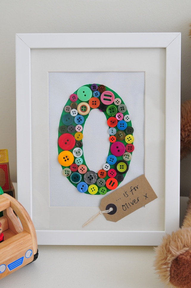 Personalised Button Picture - Folksy.com/shops/RainbowIllustrations