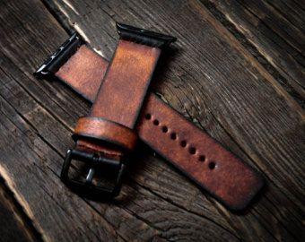 Vintage Distressed Apple Watch Band Band 42mm / 38mm handgemachte Leder Armband/Band für Apple Watch 42mm