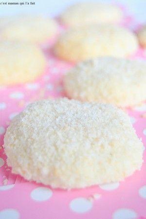 Biscuits flocons à la noix de coco