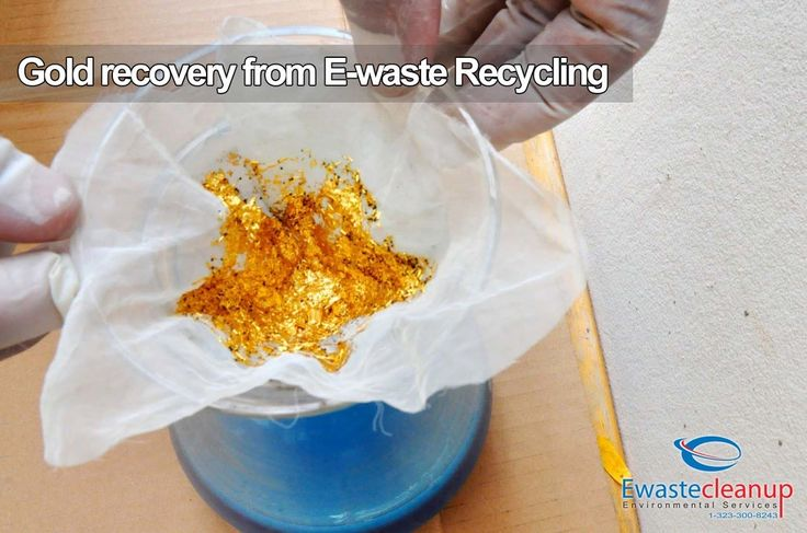 gold recovery from e-waste recycling