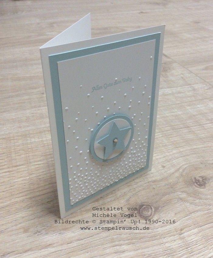Stampin' Up! Glückwunschkarte zur Geburt, Sternenkarte, Stempelset Kleine…